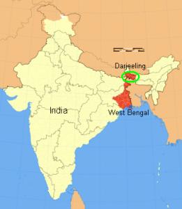 Darjeeling - mapa